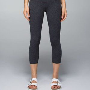 Lululemon Dark Grey Cotton Crop Leggings